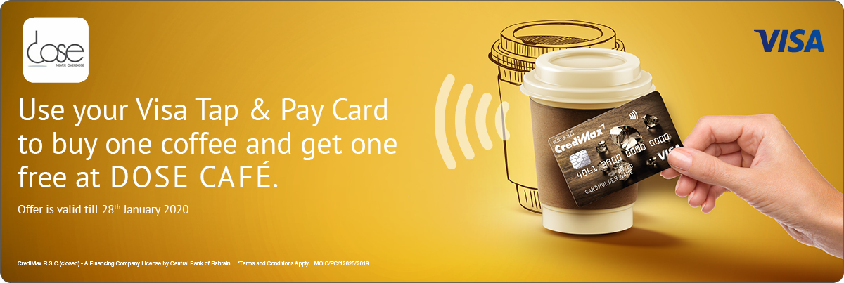 CrediMax and DOSE CAFE Offer