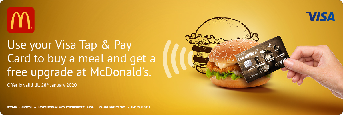 CrediMax and McDonald's Offer