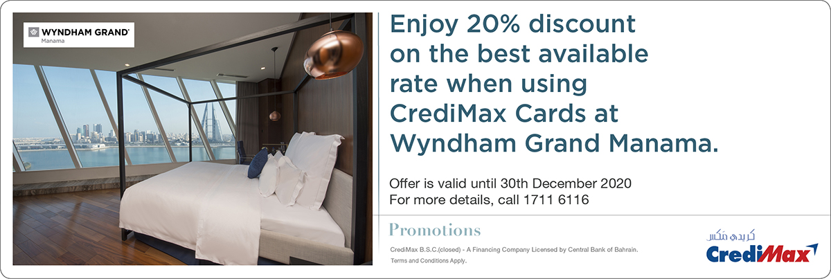 CrediMax and Wyndham Grand Manama Room Offer