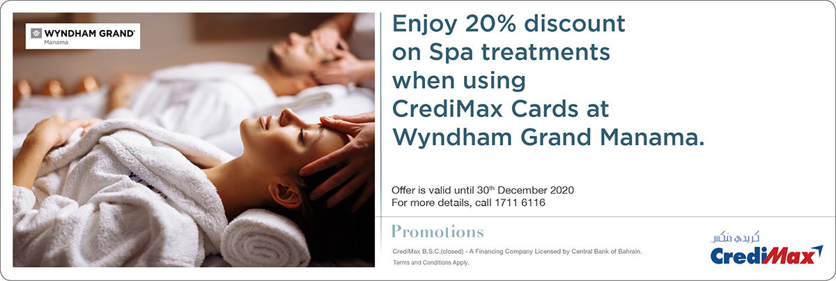 CrediMax and Wyndham Grand Manama Spa Offer