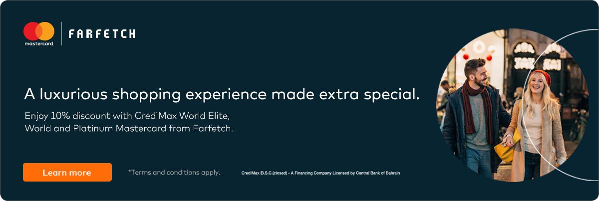 CrediMax and Mastercard Farfetch.com Offer