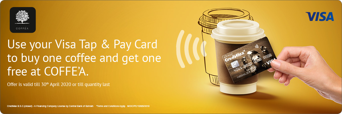 CrediMax Visa Offer with COFFE'A