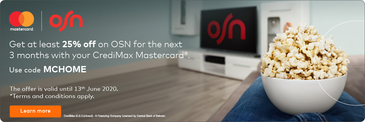 CrediMax Mastercard OSN Offer