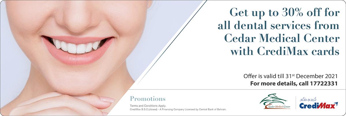 CrediMax and Cedar Medical Center Offer