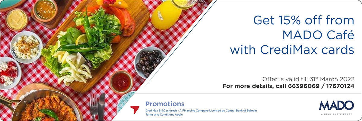 CrediMax and MADO Cafe Offer