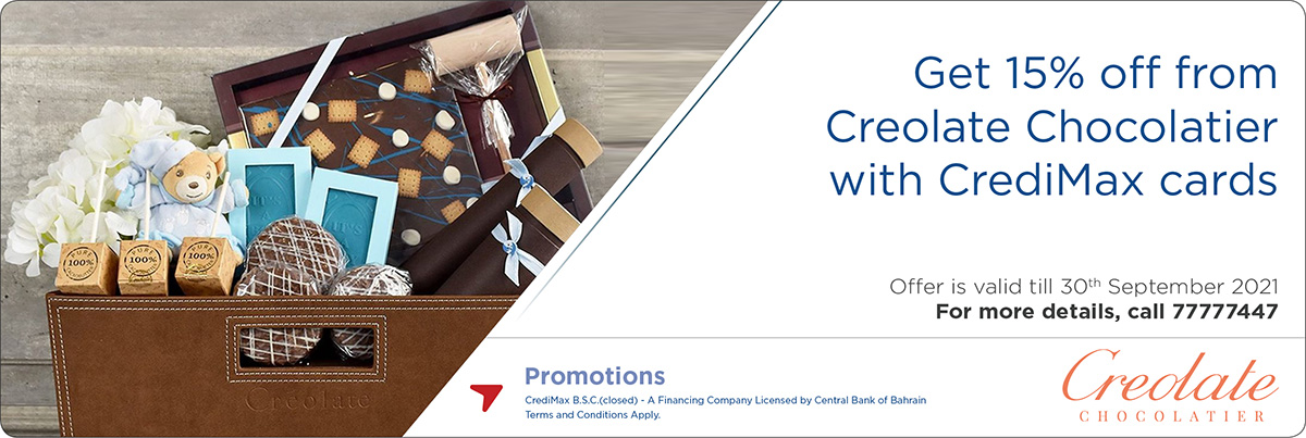 CrediMax and Creolate Chocolatier Offer