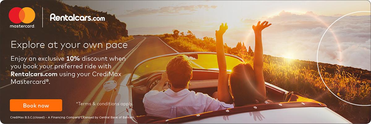 CrediMax Mastercard Rental Cars Offer