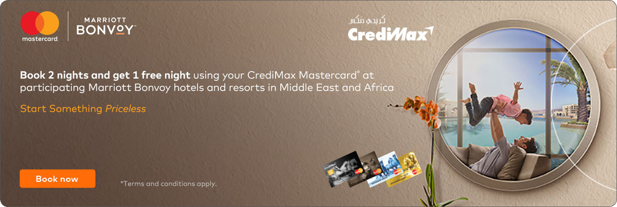 CrediMax Mastercard Marriott Bonvoy Hotels and Resorts Offer