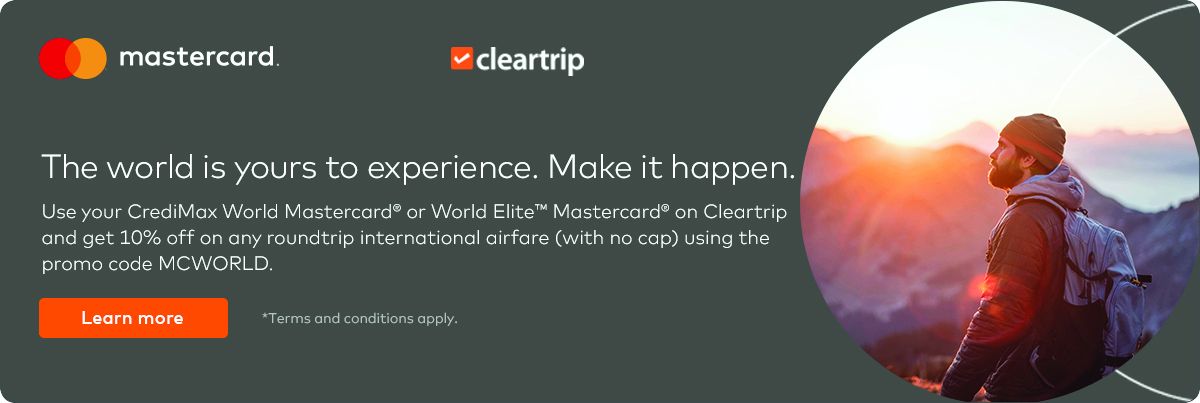 CrediMax Mastercard Clear Trip Offer for World Cards