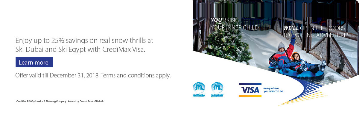 CrediMax Visa Sky Dubai and Ski Egypt Offer