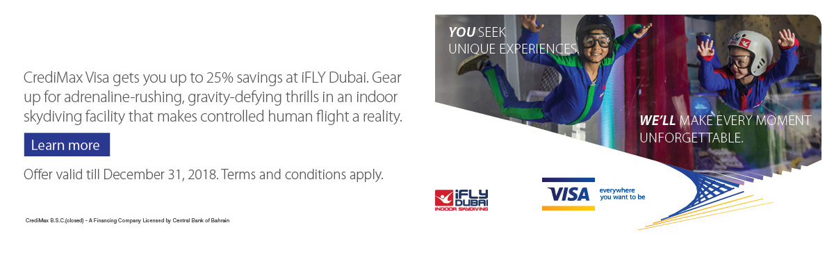 CrediMax Visa iFLY Dubai Offer